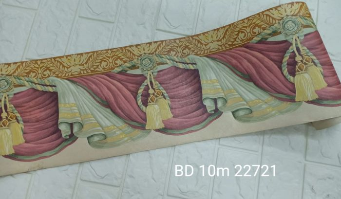 Wallpaper Dinding BORDER DWS 10m/roll <br><br><br> 6 bd_10m_22721