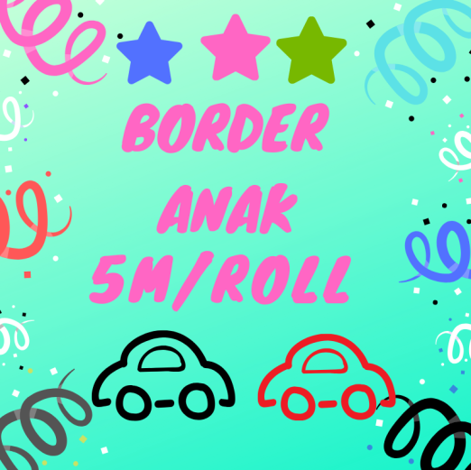 Wallpaper Dinding BORDER ANAK 5m/roll